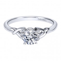 Gabriel 14 Karat Contemporary Engagement Ring ER10498W44JJ