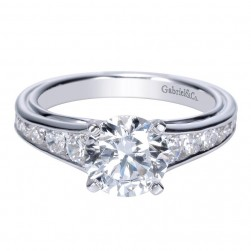 Gabriel 14 Karat Contemporary Engagement Ring ER8866W44JJ