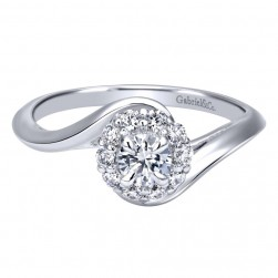 Gabriel 14 Karat Contemporary Engagement Ring ER911796R1W44JJ