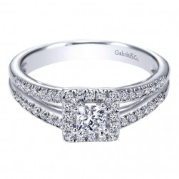 Gabriel 14 Karat Contemporary Engagement Ring ER96346W44JJ
