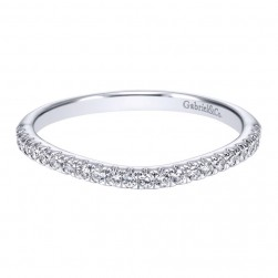 Gabriel 14 Karat Contemporary Wedding Band WB911597R0W44JJ