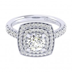 Gabriel 14 Karat Perfect Match Engagement Ring ER039B4AGW44JJ