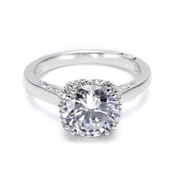 Tacori Platinum Dantela Engagement Ring 2620RDMD