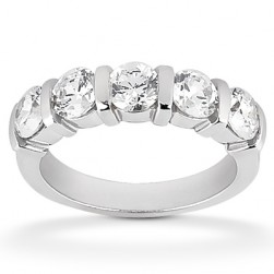 Diamond Five Stone Band Platinum Taryn Collection TQD B-003-5