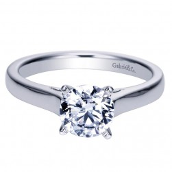 Gabriel 14 Karat Contemporary Engagement Ring ER8292W4JJJ