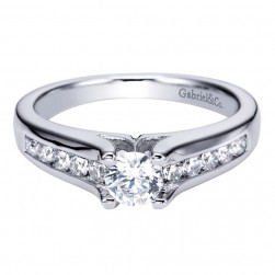 Gabriel 14 Karat Contemporary Engagement Ring ER93882W44JJ