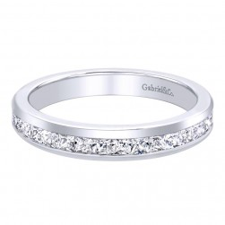 Gabriel 14 Karat Contemporary Wedding Band WB9690W44JJ