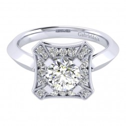 Gabriel 14 Karat Perfect Match Engagement Ring ER001B4AEW44JJ