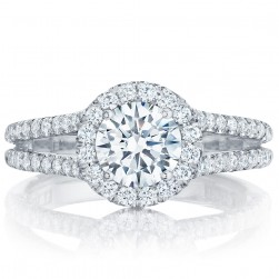 HT2548RD65 Platinum Tacori Petite Crescent Engagement Ring