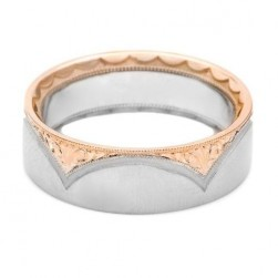 Tacori 947WRSE 18 Karat Crescent Wedding Band