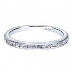 Gabriel 14 Karat Contemporary Wedding Band WB10756W44JJ