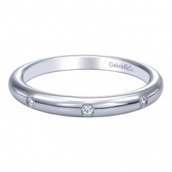 Gabriel 14 Karat Contemporary Wedding Band WB9571W44JJ