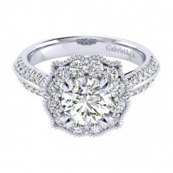 Gabriel 14 Karat Perfect Match Engagement Ring ER002C6ACW44JJ