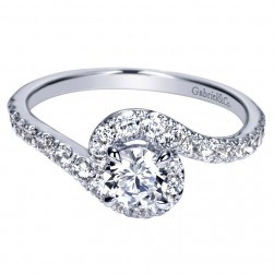 Gabriel Platinum Contemporary Engagement Ring ER98510PTJJJ