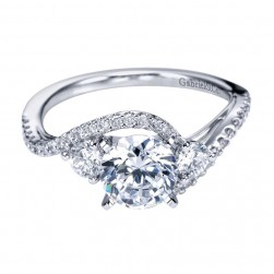 Gabriel 14 Karat Contemporary Engagement Ring ER7457W44JJ