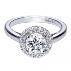 Gabriel 14 Karat Contemporary Engagement Ring ER7821W44JJ