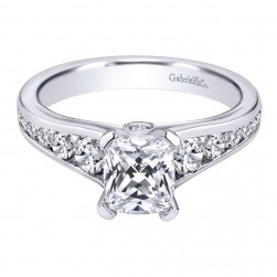 Gabriel 14 Karat Contemporary Engagement Ring ER8867W44JJ