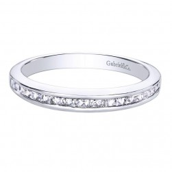 Gabriel 14 Karat Contemporary Wedding Band WB9542W44JJ