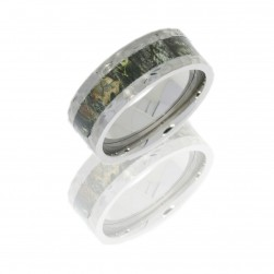Lashbrook CAMO8F14-MOSSYOAK POLISH Camo Wedding Ring or Band