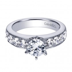 Gabriel 14 Karat Contemporary Engagement Ring ER3883W44JJ