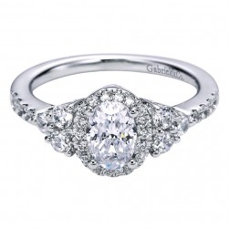 Gabriel 14 Karat Contemporary Engagement Ring ER6276W44JJ