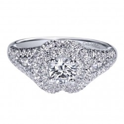 Gabriel 14 Karat Contemporary Engagement Ring ER910146W44JJ