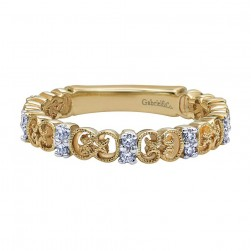 Gabriel Fashion 14 Karat Stackable Stackable Ladies' Ring LR4874Y44JJ