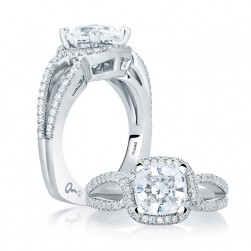 A.JAFFE 14 Karat Signature Engagement Ring MES650