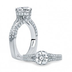A.JAFFE Platinum Signature Engagement Ring MES679