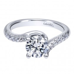 Gabriel 14 Karat Contemporary Engagement Ring ER10198W44JJ