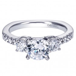 Gabriel 14 Karat Contemporary Engagement Ring ER4247W44JJ