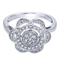 Gabriel Fashion 14 Karat Victorian Ladies' Ring LR6223W45JJ