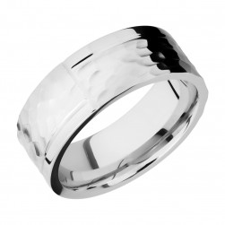 Lashbrook CC8F1GOCHR Cobalt Chrome Wedding Ring or Band
