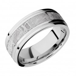 Lashbrook CC8FGEW2UMIL14/METEORITE Cobalt Chrome Wedding Ring or Band