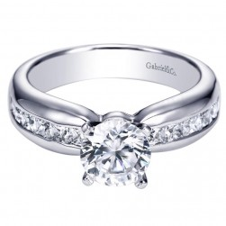 Gabriel 14 Karat Contemporary Engagement Ring ER5519W44JJ