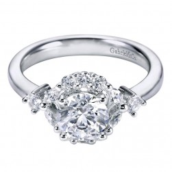 Gabriel 14 Karat Contemporary Engagement Ring ER6285W44JJ