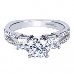 Gabriel 14 Karat Contemporary Engagement Ring ER4115W44JJ
