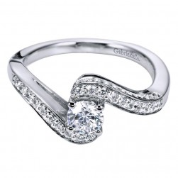 Gabriel 14 Karat Contemporary Engagement Ring ER96290W44JJ