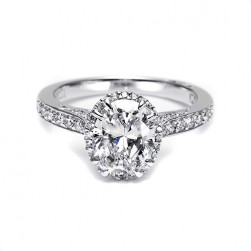 Tacori Platinum Dantela Engagement Ring 2620OVMDP