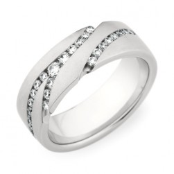 246836 Christian Bauer 14 Karat Diamond  Wedding Ring / Band