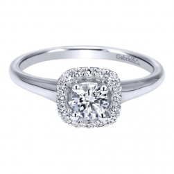 Gabriel 14 Karat Contemporary Engagement Ring ER911928R0W44JJ