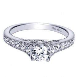 Gabriel 14 Karat Contemporary Engagement Ring ER98627W44JJ