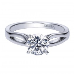 Gabriel Platinum Contemporary Engagement Ring ER8133PTJJJ