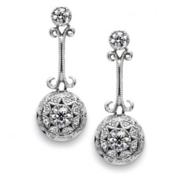 Tacori Diamond Earrings Platinum Fine Jewelry FE554