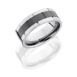 Lashbrook CT08F9098 POLISH Tungsten Ceramic Wedding Ring or Band