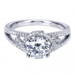 Gabriel 14 Karat Contemporary Engagement Ring ER8140W44JJ