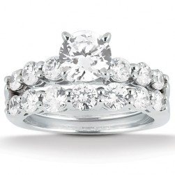 Taryn Collection Platinum Diamond Engagement Ring TQD A-4741