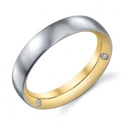 243585 Christian Bauer 18K - Plat Diamond  Wedding Ring / Band