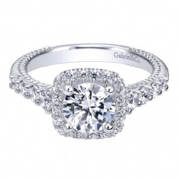 Gabriel 14 Karat Contemporary Engagement Ring ER10109W44JJ