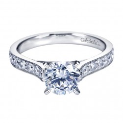 Gabriel 14 Karat Contemporary Engagement Ring ER7445W44JJ